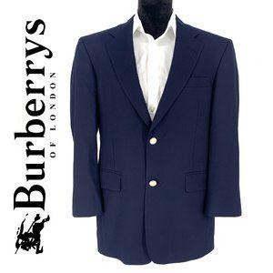 BURBERRY Vintage Navy Wool Sport Coat men's jacket